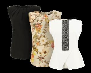 Fotografia typu duch -trzy bluzki