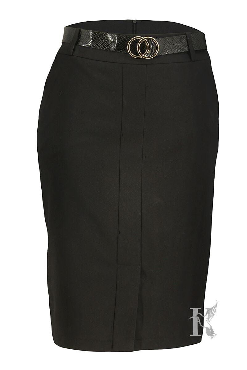 Packshot na niewidzialnym manekinie – czarna ołówkowa spódnica