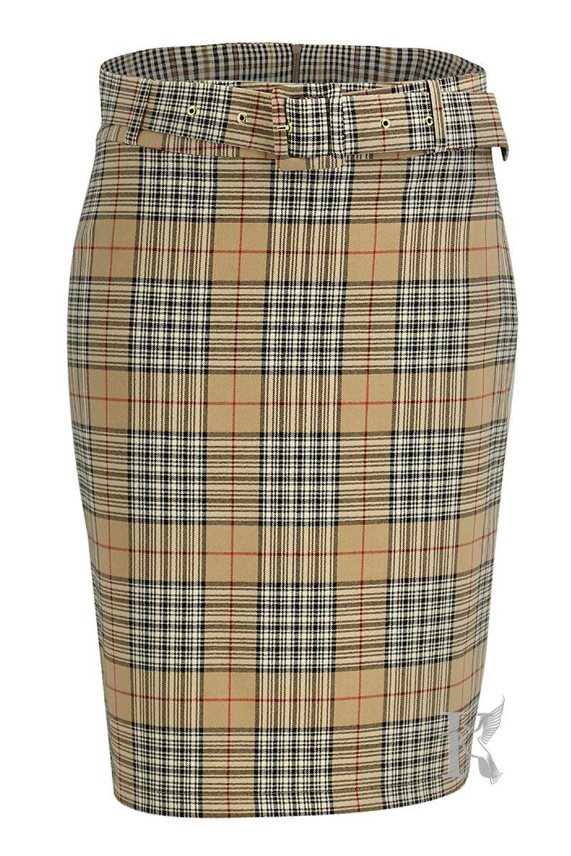 Packshot na niewidzialnym manekinie –ołówkowa spódnica w kratę