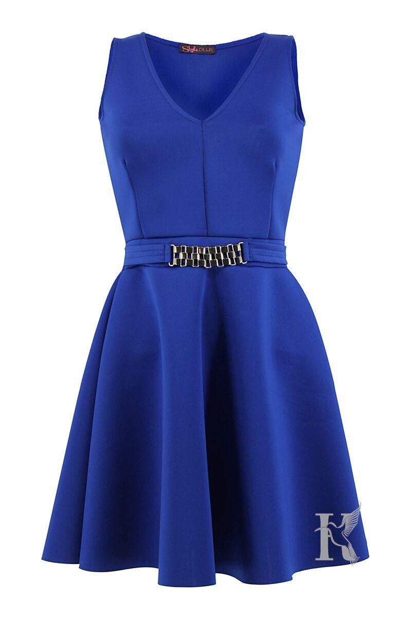 Packshot na niewidzialnym manekinie – niebieska sukienka