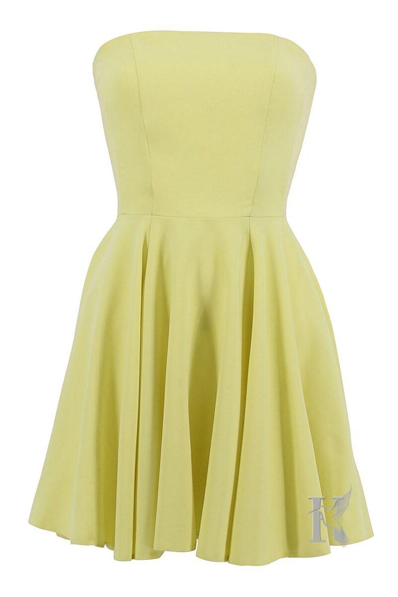 Packshot na niewidzialnym manekinie – żółta sukienka