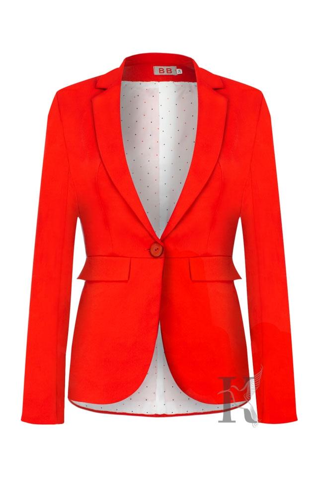 Czerwony żakiet - Fotografia odzieżowa na niewidzialnym manekinie