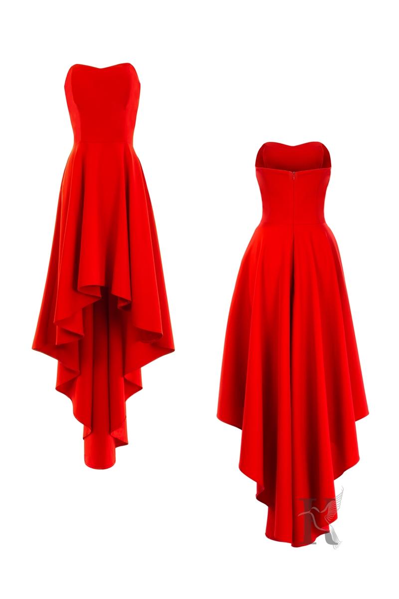 Czerwona sukienka - Fotografia odzieżowa na niewidzialnym manekinie