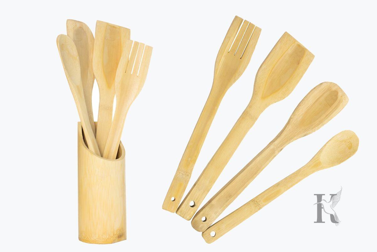 Packshot – zestaw łyżek drewnianych